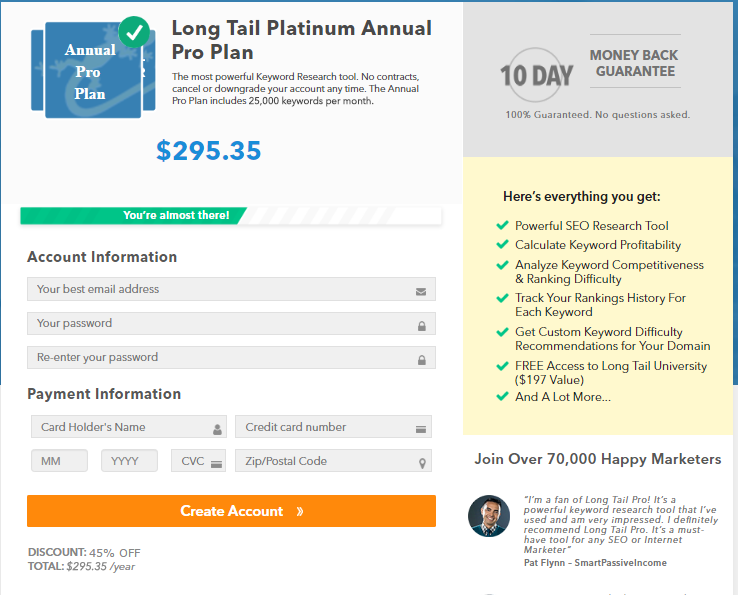 LTP Annual Pro Plan Discount Applied