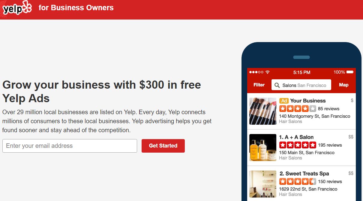 Yelp For Business Owners Ads Coupon