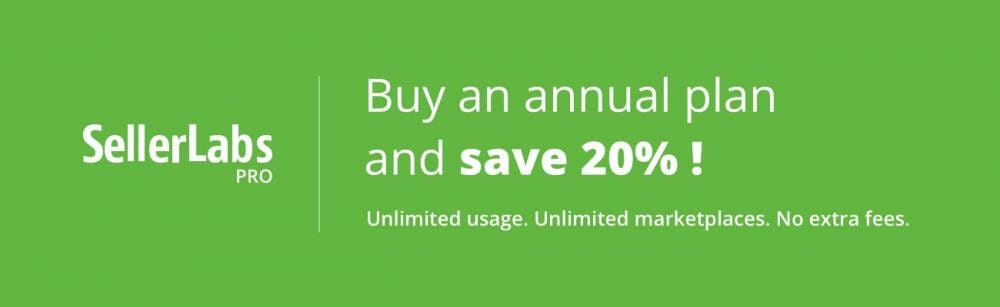 Seller Labs Pro Annual Discount