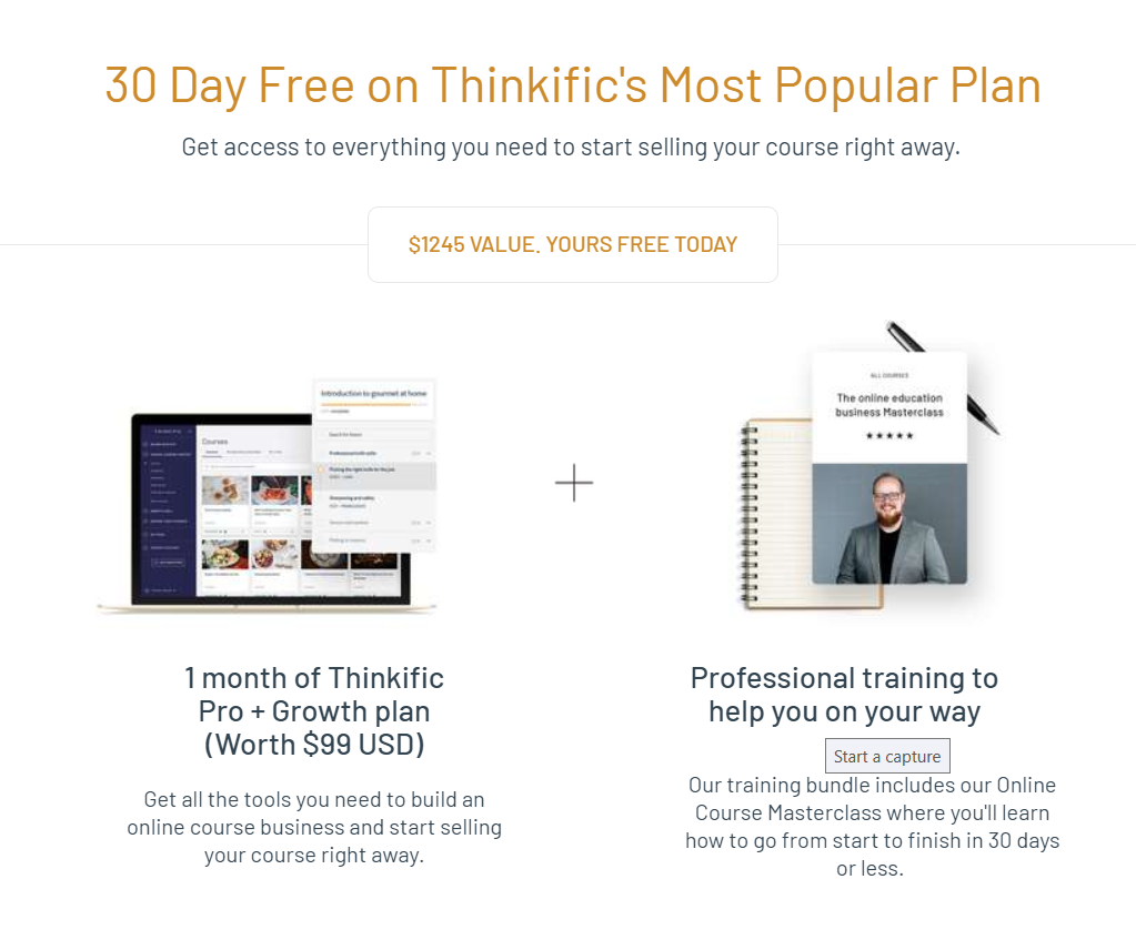 Thinkific Review and Promotional Offer
